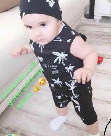 Palmiyeli Bereli Erkek Bebek Takımı